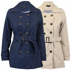 Ladies Jacket Brave Soul Womens Coat Military BELT Double Breasted Trench Summer
