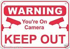 Keep Out Video Surveillance Warning Sign Aluminum Metal Home Business Security