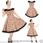 RKH81 Hearts & Roses Peony Party Floral Rockabilly Evening Dress 50s Retro Plus