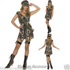 CL361 Ladies Fever Army Uniform Military Army Soldier Top Gun Dress Up Costume