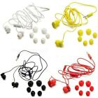 3.5mm Black Yellow White Line Earphone Headphones with Micphone for Nokia DTEG
