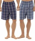 Tom Franks Twin Pack Checked Easycare Lounge Shorts