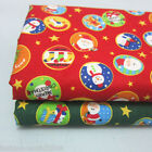 Christmas 100% Cotton Twill Fabric 160cm Wide Red Green Per Meter