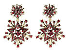 1Pair Luxury Big Vintage Snowflake Dangle Earrings 2-color 37X58mm Free Shipping