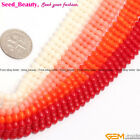 "3 rows White / Red / Pink / Orange Coral Jewelry Making Loose Beads 15"" 4x11mm"