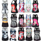 Sexy Stylish Women Punk Printed T Shirt Blouses Gothic Top Vest Tank Clubwear