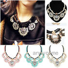 Hot Fashion Chunky Chain Choker Bib Statement Crystal Pendant Necklace Collar