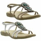 New Earth Spirit Florida Womens Leather Sandals Ladies Shoes Size UK 4-8