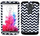Phone Cover for LG G3 Rugged Dual Layer Case Black Chevron Waves Tribal Aztec