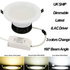 TKOOFN New 5W 9W 15W Dimmable CREE LED Recessed Ceiling Panel Down Lights Lamp