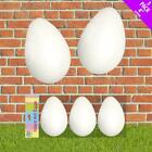 3 foam polystyrene 9.5cm eggs -easter parties bonnets easter parade P031