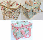 Floral Insulated School Lunch Cool Eco Picnic Bag Flowers Chic Shabby Vintage
