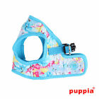 Puppia - Dog Puppy Harness Soft Vest - Spring Garden - Blue Small S