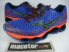 New Mizuno Wave Prophecy 3 Running Pro Shoes Mens Blue Orange J1GC140018