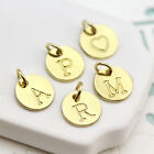A-Z 10mm Gold metal Initial Charms Letters Alphabet Nickle free (15-1-669)