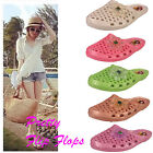 WOMENS LADIES FLOWER JELLY SUMMER FLAT FLIP FLOP SANDALS SIZE UK 3 4 5 6 7 8 NEW