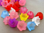 7x10mm 50/100/../500pcs TRANSLUCENT ACRYLIC PLASTIC FLOWER BEADS TY2205