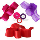 "50 YD 2"" 50mm Organza Sheer Ribbon Craft Bow Party Decor Various Colours New"