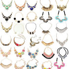 Charm Crystal Chunky Statement Bib Pendant Chain Choker Necklace Fashion Jewelry
