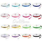 "50 YD 3/8"" 10mm Grosgrain Ribbon Scrapbooking Bow Wedding Decor Colors U Pick"