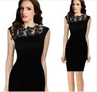 2015 Women's Summer Sexy Lace Floral Casual Short Party Bridesmaid' Sheath Dress