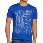 AT-AT Herren T-Shirt blaupause walker star darth wars imperium blueprint blu-ray