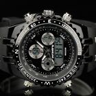 INFANTRY MENS SPORT MILITARY ARMY CHRONOGRAPH DIGITAL QUARTZ WRIST WATCH BLACK
