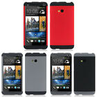 Fashion Tri-color Double Dip Genuine Plastic Shell Case For HTC ONE M7 Trendy