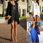 2015 Women Summer Sexy Chiffon Casual Party Evening Cocktail Short Mini Dress