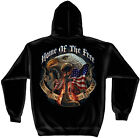 Black Hooded Sweatshirt with Home of the Free because of the Brave Design