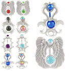 Anodize shield belly rings navel piercing button bars 9HJD-SELECT COLOUR&STYLE