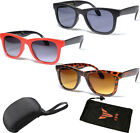 New Black Folding Wayfarer Sunglasses Foldable Compact Pocket Size Retro Style