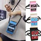 Chic Women Girls Canvas Shoulder Bag Milk Cartons Crossbody Messenger Bag New CB