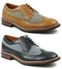 Ferro Aldo MFA-19312A Men's Houndstooth Wing Tip Lace Up Oxford Dress Shoes