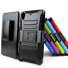 For Sony Xperia Z2 D6503 Rugged Hybrid Hard Case Cover Belt Clip Holster Stand