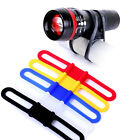 5pcs Cycling Bike Bicycle Silicone Band Flash Light Phone Strap Tie Mount Holder