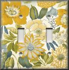 Switch Plates And Outlet Covers - Yellow Blue Green Floral - Home Decor Flowers