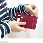 Iconic Zip Up Neck Card Pocket Holder Strap Case Zipper Money Coin Wallet Purse