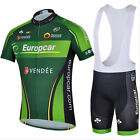 Cycling Bike Short Sleeve Green Clothing Bicycle Sport Jersey Bib Shorts Set