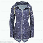 Ladies Star Festival Mac Navy Detachable Hoodie Parka Waterproof Rain Coat