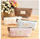 Student's Children Cute Floral Pencil Pen Case Bags Stationery Bags Pouch New Z