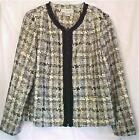 Size 12 & 14 Petite Cropped Jacket Cream Gold Black Sag Harbor New with Tags