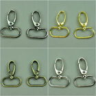 10 x High Quality Metal Swivel Snap Hooks Handbag, Bag & Purse Hardware 1""