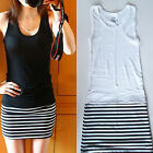 Chic Women Sexy Stripe Sleeveless Bodycon Casual Evening Party Mini Summer Dress