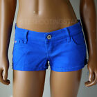 NWT HOLLISTER HCO WOMENS BLUE LOW RISE JEANS SHORT-SHORTS