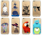 Transparent Thin TPU Soft Silicone Printed Case Cover For iPhone 5S 5C 6 6 plus