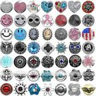 Punk Metal Crystal Snap Button Beads Charm Fit Leather Pop Bracelet Jewelry DIY