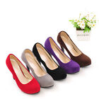 Women's Fashion Shoes Faux Suede High Heel Platform Party Pumps UK All Size S101