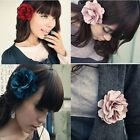 Hot Two Ways Hairpin Vogue Beauty Silk Flower Brooch Hair Pins Clips Accessory Z