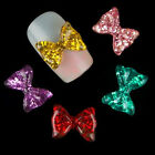 10X Nail Art Big Bow Resin Crystal Glitter Rhinestone DIY Decoration Phone Craft